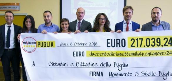 Movimento 5 stelle Puglia regala 217 mila euro a bambini bisognosi
