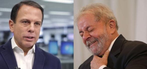João Doria e Lula, adversários políticos