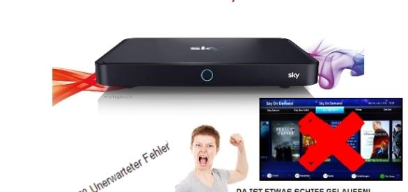 Kunden können bei Receivertausch nicht mehr Sky on Demand nutzen / Foto:Montage