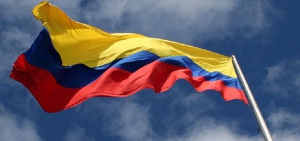 La bandera de la República de Colombia