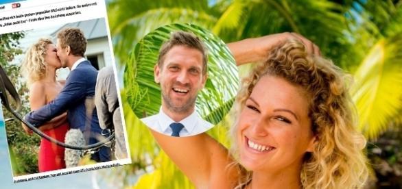 Laut Bild sind Peer und Janni ein Paar / Fotos: RTL; Screenshot Bild.de (Ausschnitt links)