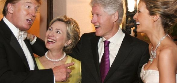Hillary Clinton and Bill Clinton at Donald Trump's Wedding Photo - people.com