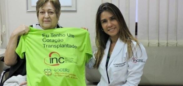 Ivonette Balthazar e a Dra. Jacqueline Sampaio, da Coordenação de Transplantes do Instituto Nacional de Cardiologia
