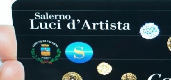 La card delle Luci d'Artista di Salerno 2016-2017.
