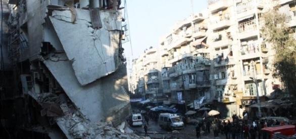 Ciudad de Alepo azotada por la guerra