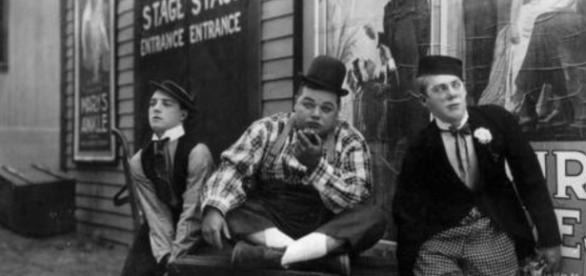 "Buster Keaton, Roscoe ""Fatty"" Arbuckle e Al St. Johns"