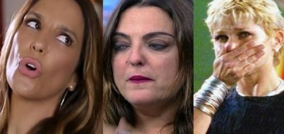 Ivete, Fabíola e Xuxa - Foto/Montagem