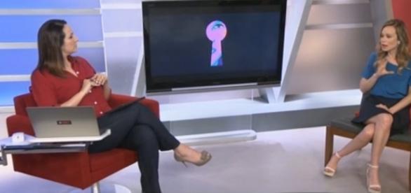 Maria Beltrão apresentando seu programa