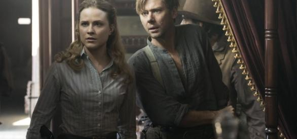 Dolores Abernathy e William em 'Westworld'