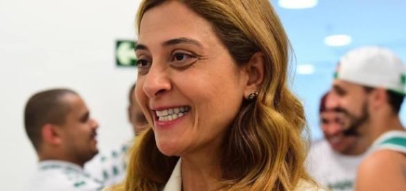 Leila Pereira, presidente da Crefisa/FAM, se reaproximou do Palmeiras