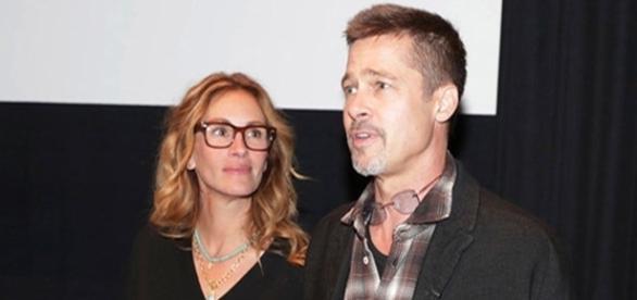 Os atores estiveram juntos em um cinema de Los Angeles