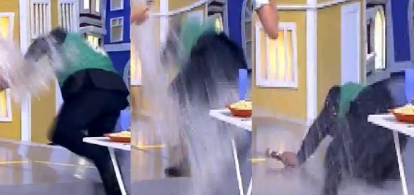 Ratinho sofre acidente no SBT. Veja