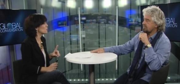 Beppe Grillo intervistato a Bruxelles   Tito di Persio