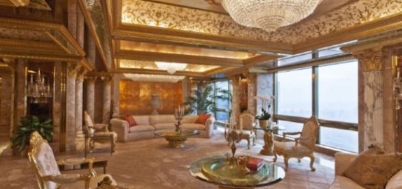 Il lussuosissimo attico di Donald Trump al centro di Manhattan