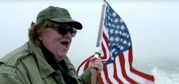 Michael Moore, da sempre attivo nel dare una visione critica agli avvenimenti in USA.