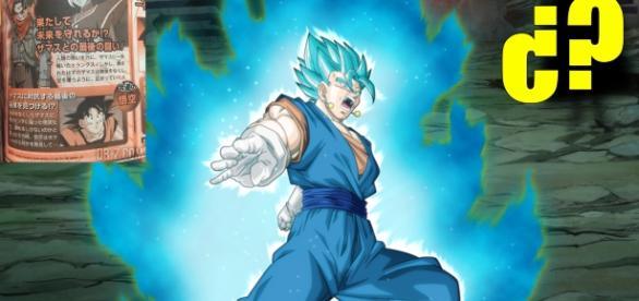 Vegeto transformado en dios azul