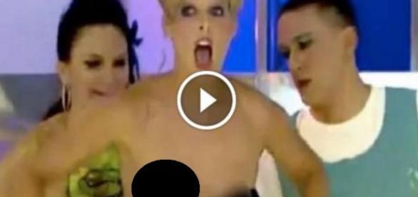 Xuxa da Espanha ficas sem roupa