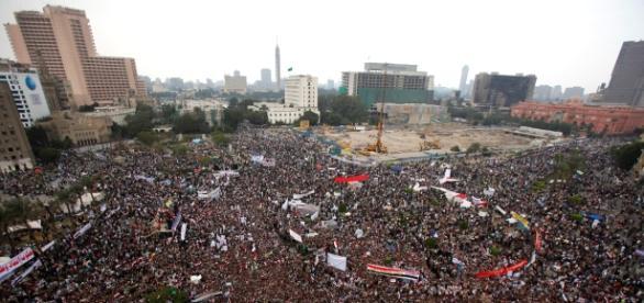 Piata Tahrir in perioada revolutiei din 2011