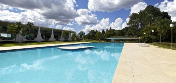 Piscina do Palácio do Alvorada em Brasília