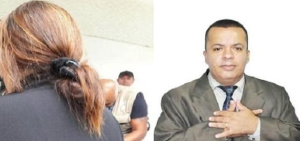 Mãe chora ao entregar filho acusado da morte do pastor