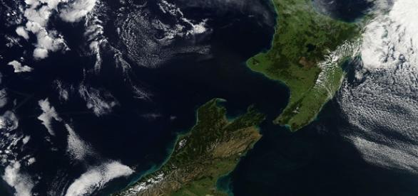 Nova Zelândia vista do Espaço, foi atingida em 13 de novembro por forte terremoto