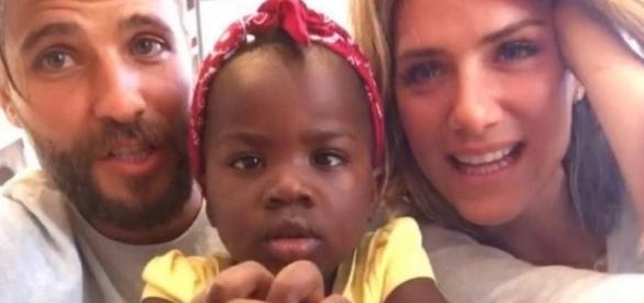 Bruno e Giovanna com a filha Titi, de 2 anos