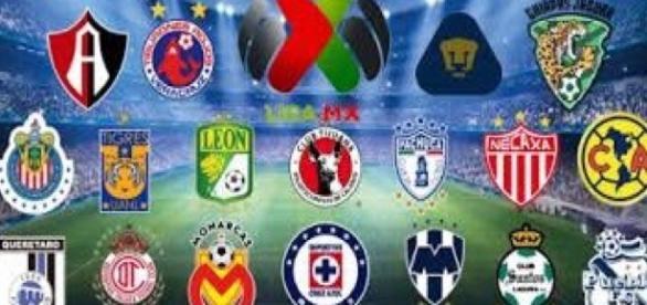 Equipos de la Liga Mexicana de Futbol.