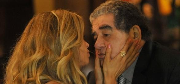 Luciane e Venturini em 'A Lei do Amor'