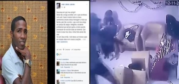 Na imagem, as homenagens prestadas ao cabeleireiro nas redes sociais