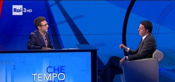 """Renzi da Fazio: Non rimarrò a galleggiare""""   tvblog.it"""
