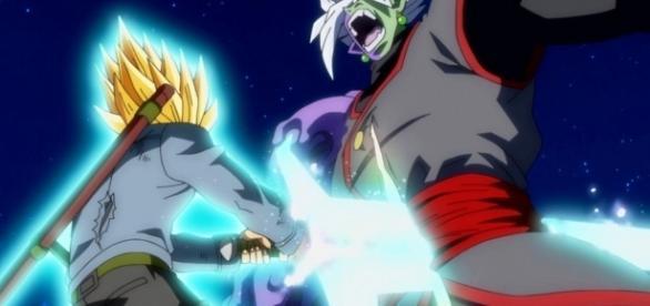Trunks atacando a Zamasu en el episodio 66 de la serie