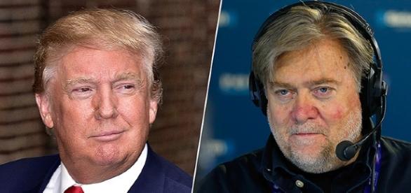 Una foto congiunta di Donald Trump e Steve Bannon - http://money.cnn.com/