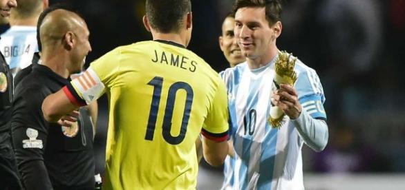 James Rodriguez Lionel Messi Copa America 2015 - Goal.com - goal.com