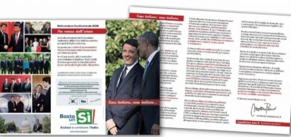 La lettera spedita da Renzi agli italiani all'estero