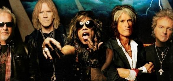 Affiche de la tournée du groupe Aerosmith en Europe