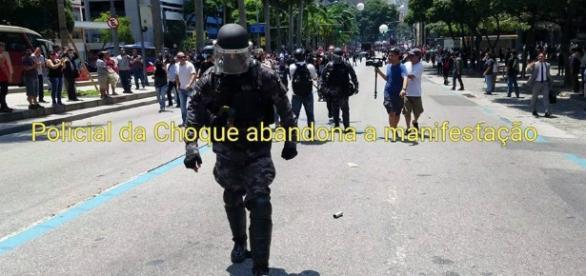 Autor do vídeo celebra abandono dos PMs em protesto no Rio de Janeiro
