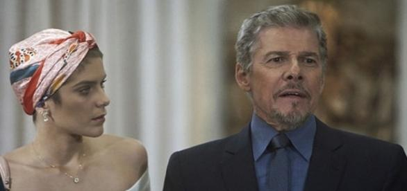 Finalmente Letícia percebe maldades de Tião em 'A Lei do Amor'