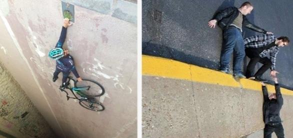 Fotografias em perspectiva são a nova moda nas redes social
