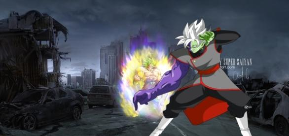 zamasu vs broly dragon ball super