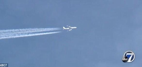 Aeronave realizou, várias vezes, trajeto oval sobre a cidade de Denver (ABC Denver 7)