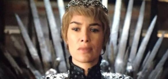 Cersei Lannister, durante la ceremonia de su coronación.