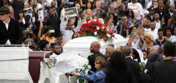 Funeral of slain black Philando Castile photo from NY Times