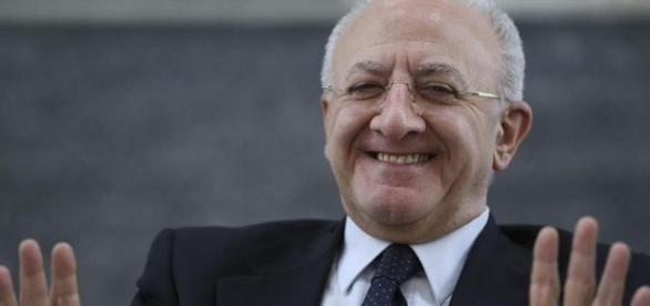 Il presidente della Campania, Vincenzo De Luca.