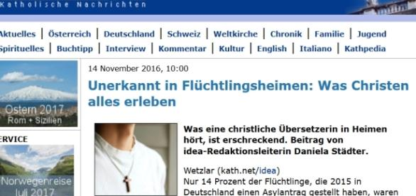 Le site catholique germanophone Kath, couvrant Allemagne, Autriche et Suisse publie un témoignage alarmant