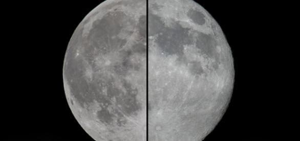 Lua Cheia normal, à esquerda, comparada à Superlua.