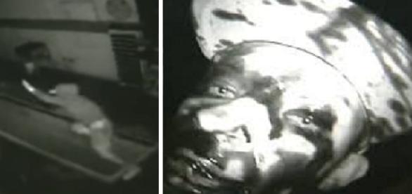 Nas imagens o homem aparece todo sujo depois de escorregar em uma valeta cheia de óleo diesel.