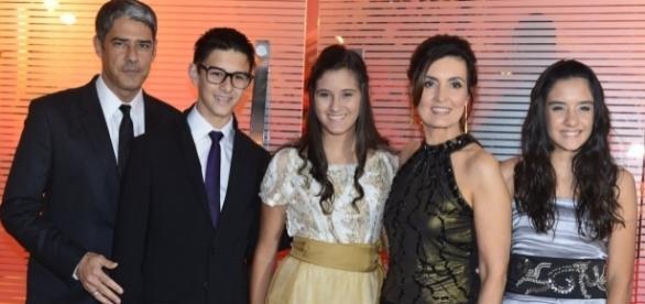 Os trigêmeos são resultado do casamento de Bonner e Fátima Bernardes