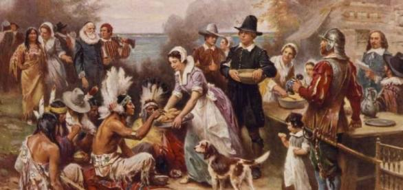 Thanksgiving dinner then and now - Photo: Blasting News Library - Theory Of Irony - theoryofirony.com
