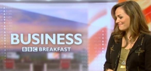 Victoria Fritz sentiu as dores do parto enquanto apresentava o BBC Breakfast
