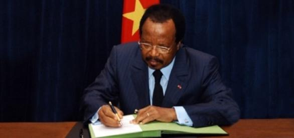 Photo: CRTV (crtv.cm) President Biya giving a deaf ear to teachers plight